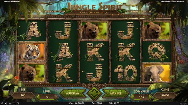 Характеристики слота Jungle Spirit: Call Of The Wild 2