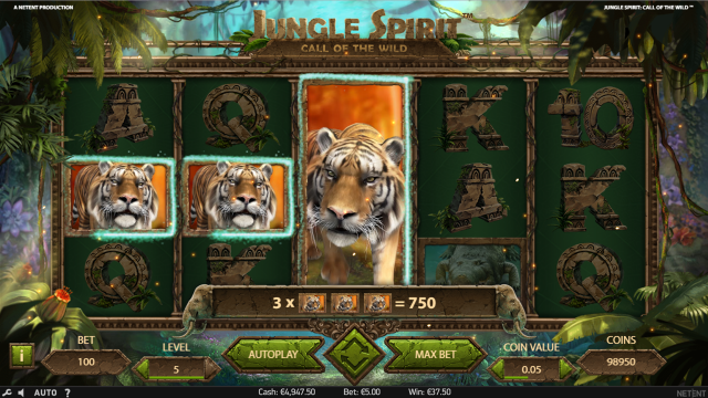Характеристики слота Jungle Spirit: Call Of The Wild 9
